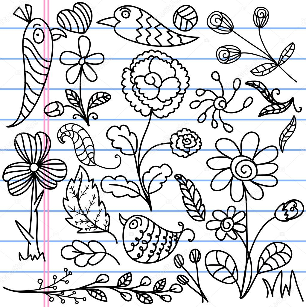Hand Art Floral Designs Set