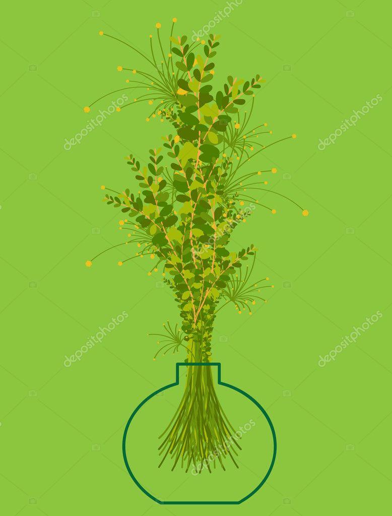Vector Illustration of Flower Pot