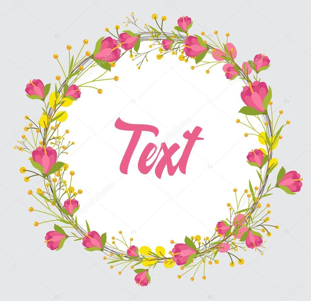 バレンタインの花フレーム バナー — ストックベクター © baavli #125477874