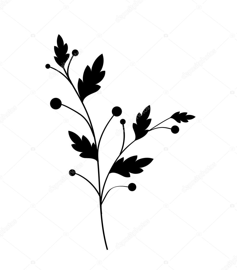 Leaves Twig Vector Shape