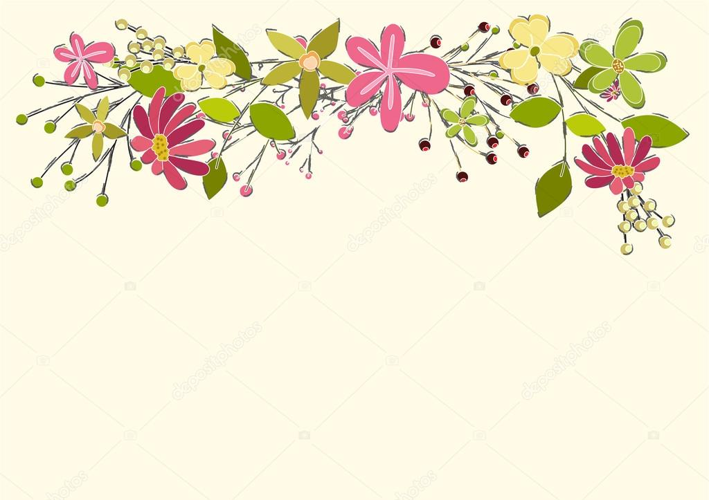 Flores Vectoriales Con Fondo Transparente: Fondo De Vector De Flores De Primavera