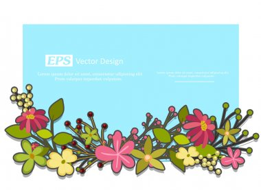 Festive Flowers Vector Template