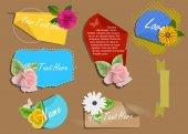 Dekorativní Valentine bannery vektory