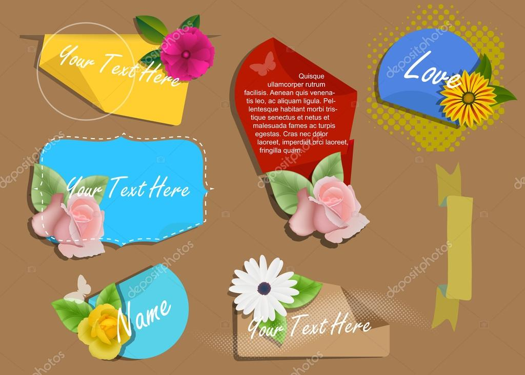 Decorative Valentine Banners Vectors