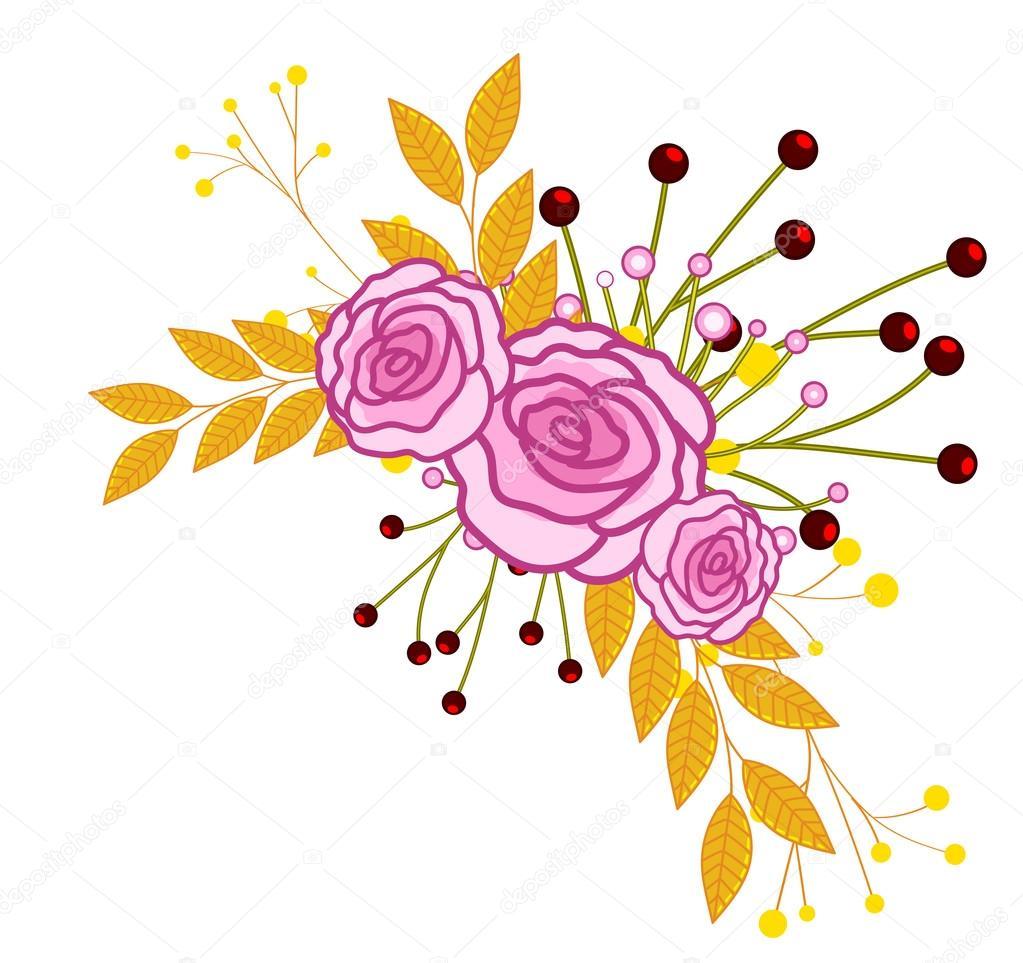 Flowers Corner Frame Design — Stock Vector © baavli #125605362