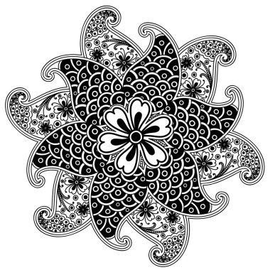 Retro Paisley Henna Art