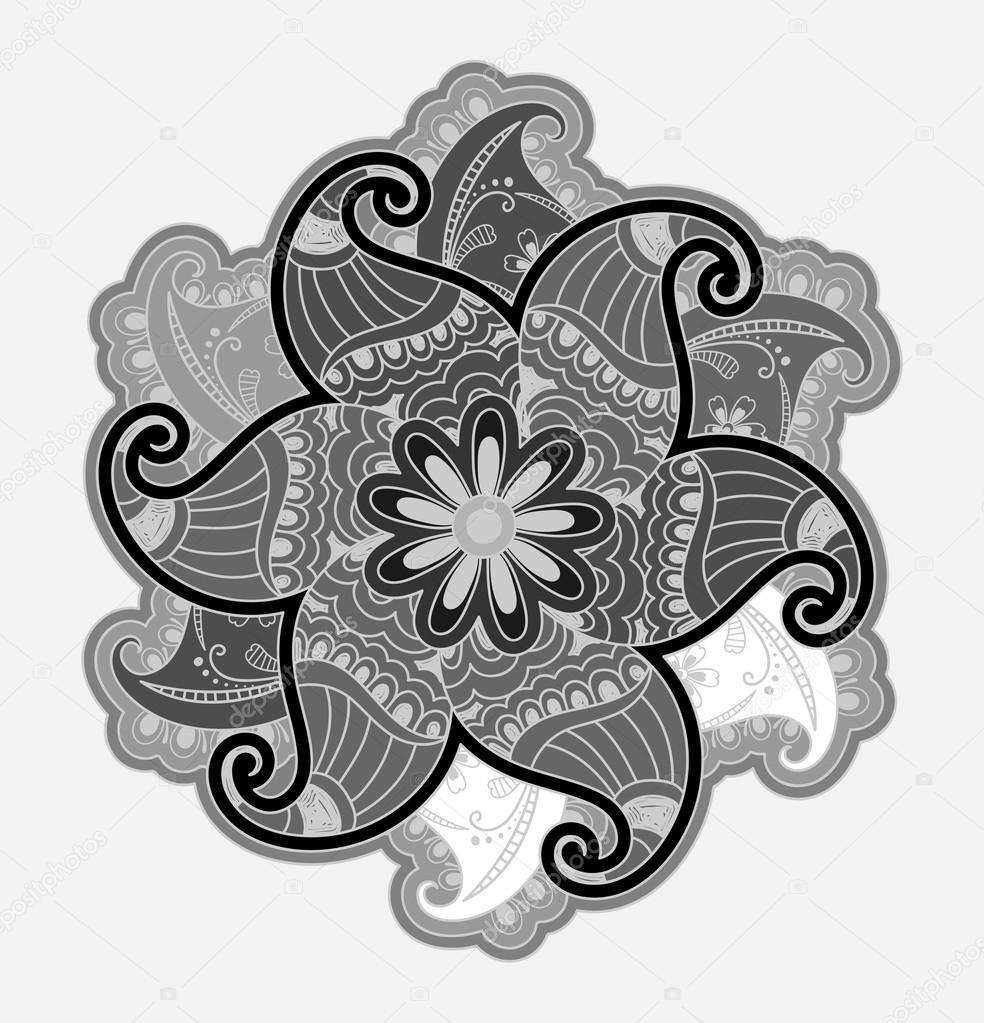 Vintage Henna Art Decor Background Stock Vector C Baavli 126160168