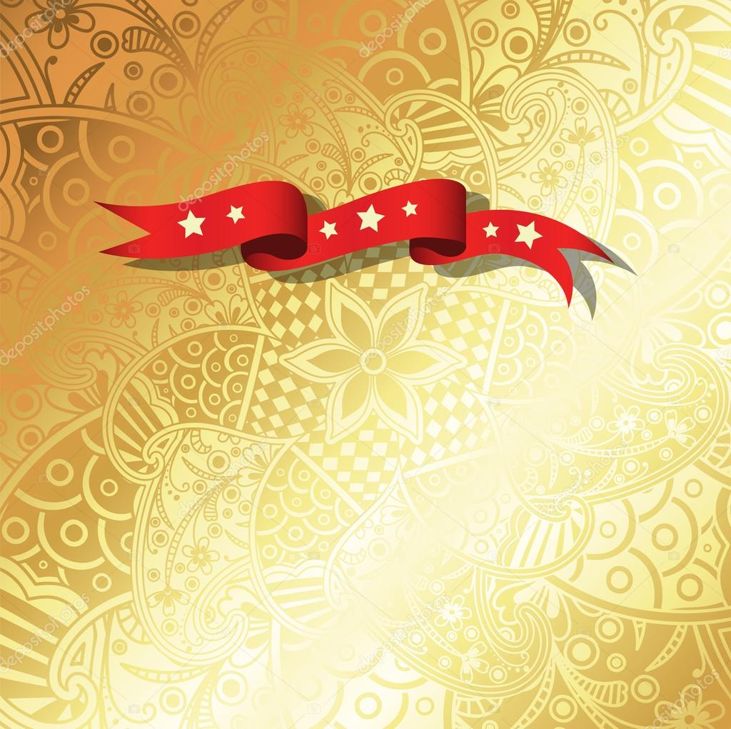 Golden Henna Art Greeting Background Stock Vector C Baavli 126160770