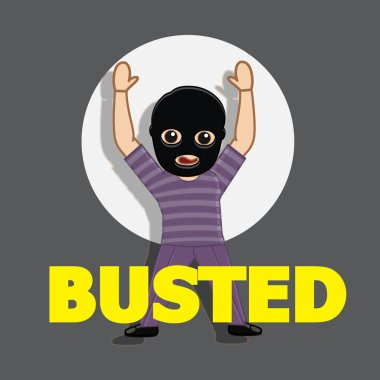Busted Thief Vector