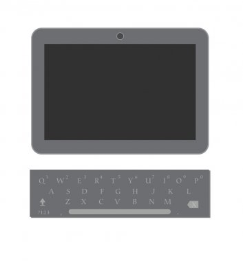 Tablet with Keyboard Vector