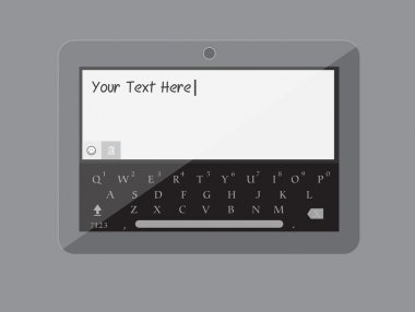Tablet Keypad Vector