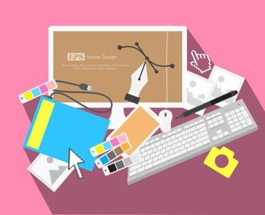 Graphic Designing Elements Vector