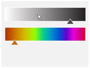 Color Palette with Slider Vector