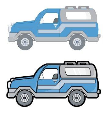 SUV Cars Vectors