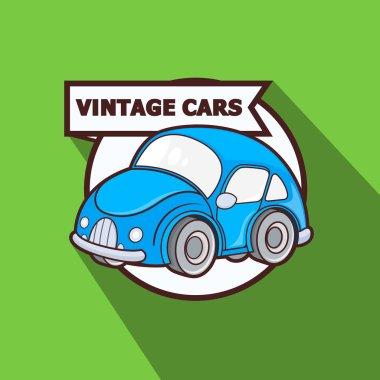 Mini Vintage Car Vector