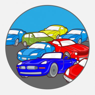 Cars Background Vector