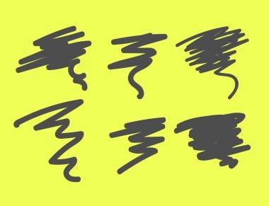 Scribble Lines Vector Illustration clip art vector