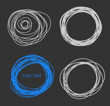 Scribble Circle Frames