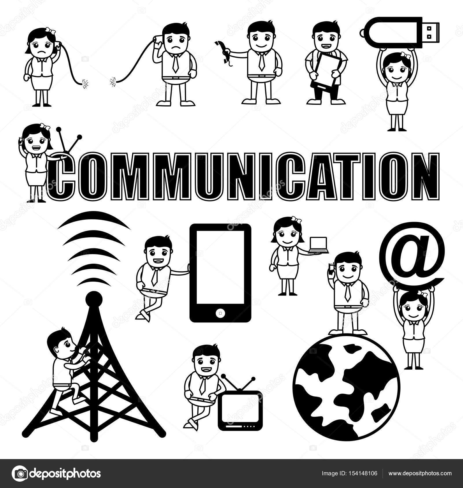 Kommunikation Konzepte Cartoon Vektoren — Stockvektor © baavli ...