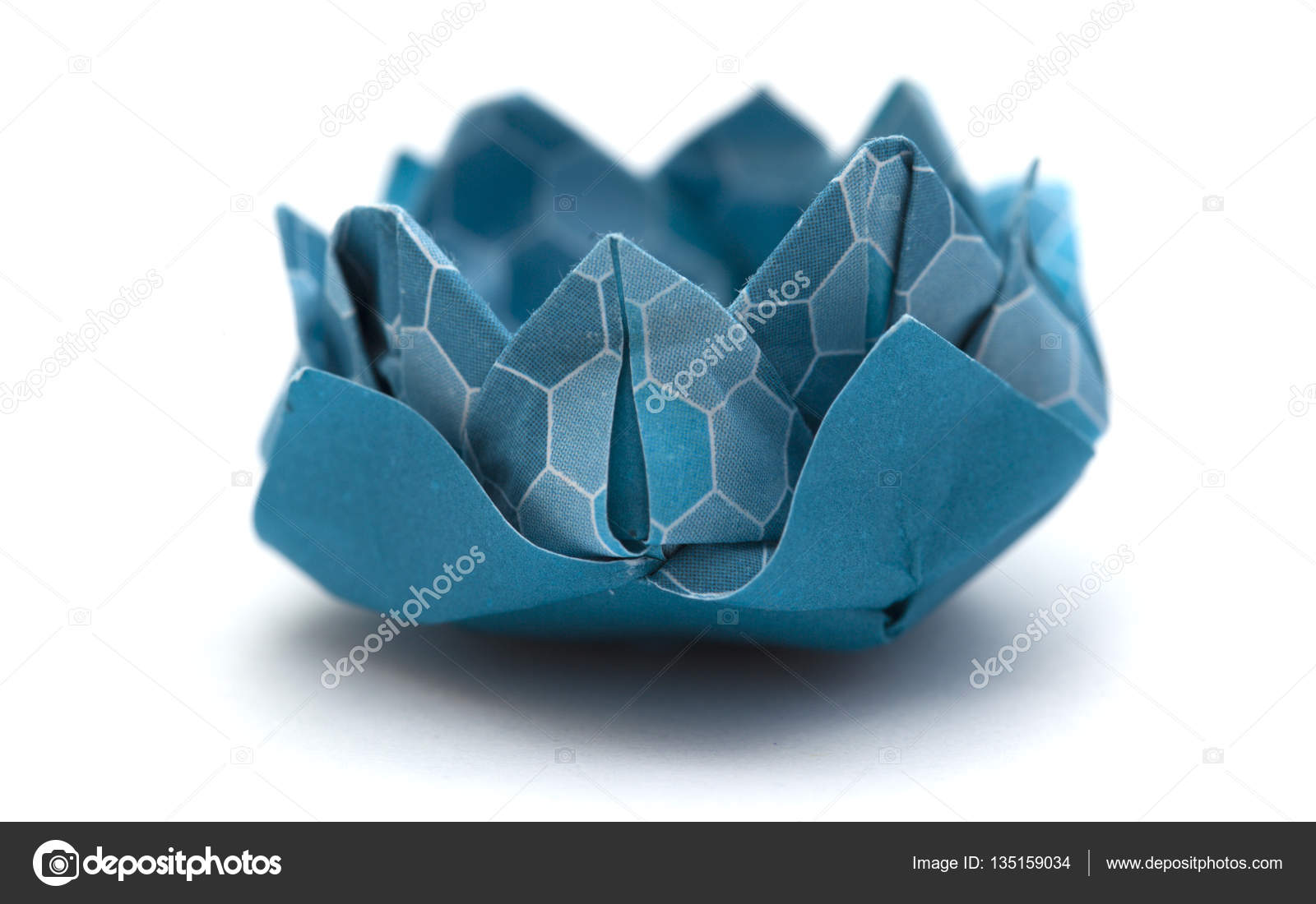 Origami Water Lily Model Stock Photo