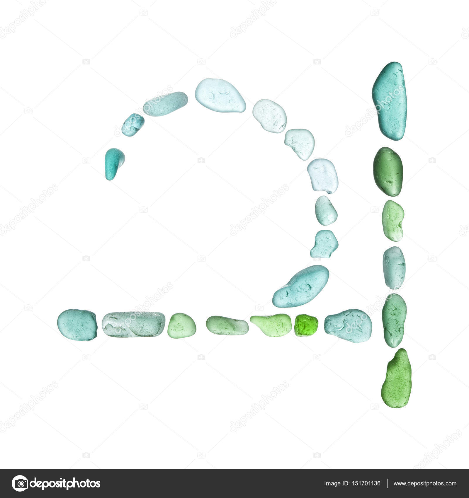 Sea Glass Mosaic Jupiter Astrological Symbol Stock Photo
