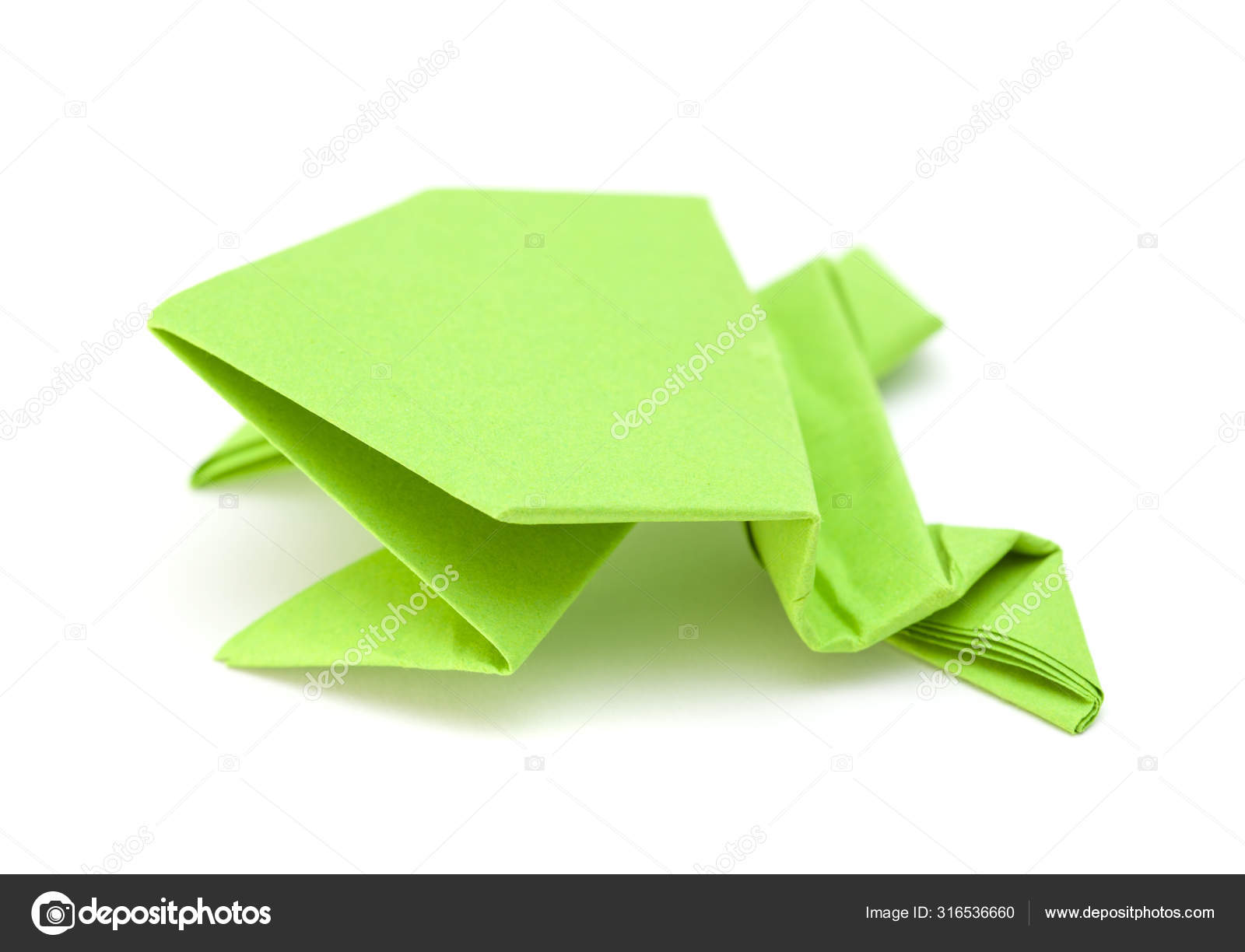 Make origami a croaking frog Royalty Free Vector Image | 1224x1600