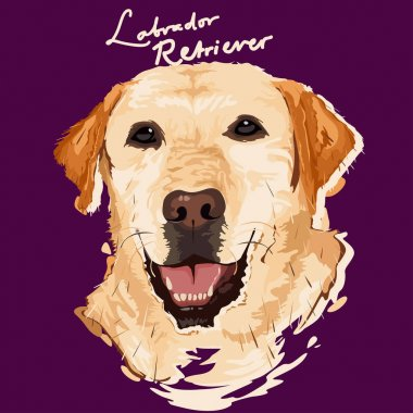 A vector illustration of Labrador Retriever Painting poster clip art vector