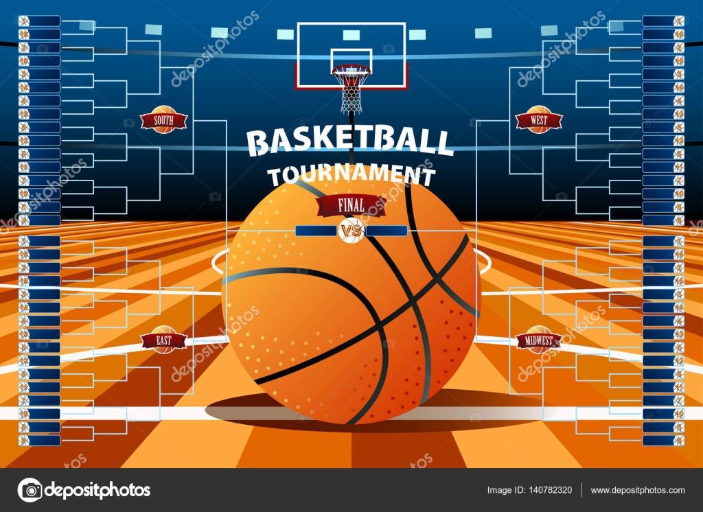 Basketball-Turnier Klammer Vorlage — Stockvektor © artisticco #140782320