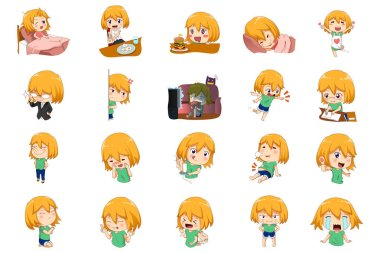 Anime Manga Girl Expressions