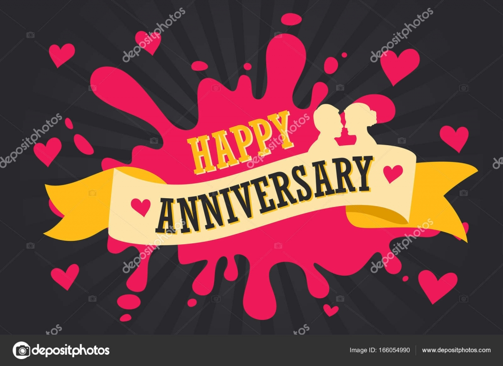 happy anniversary template poster stock vector artisticco 166054990
