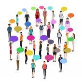Lidé v davu ilustrace