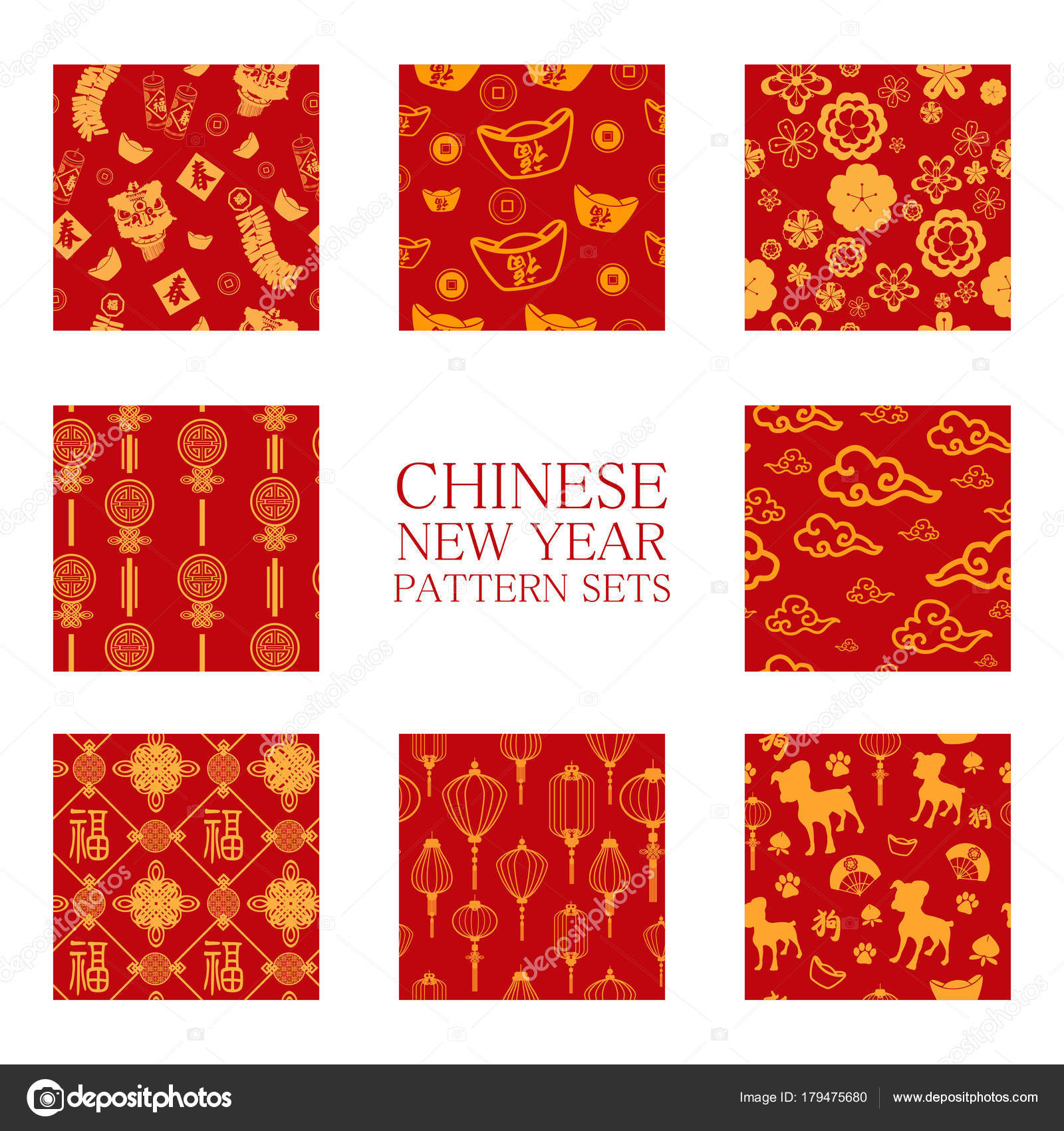 a vector illustration of chinese new year wallpaper seamless pattern background vector by artisticco