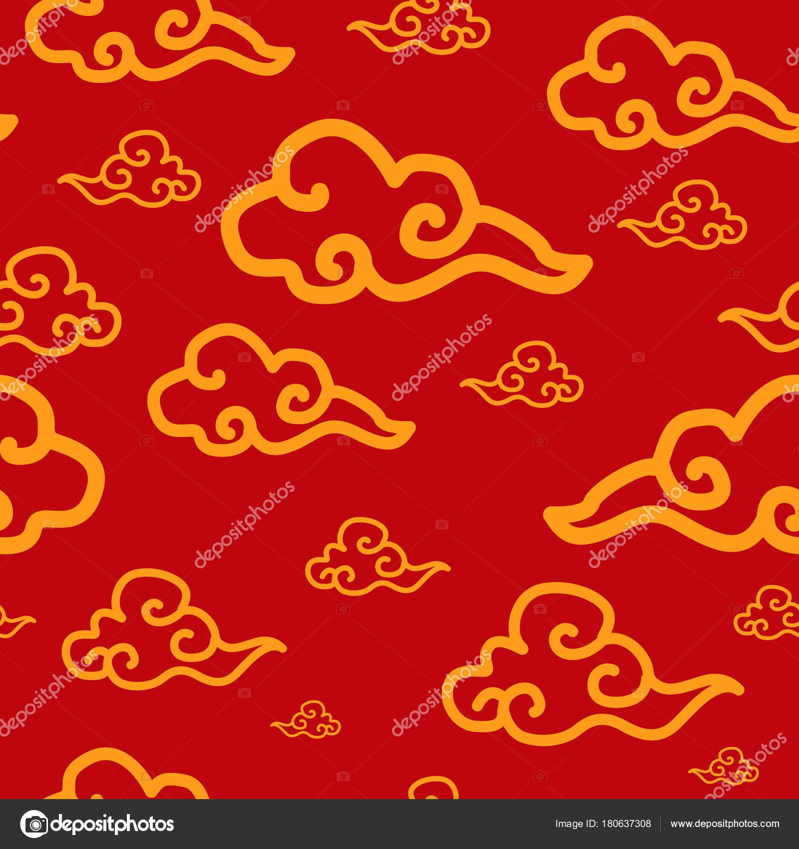 Chinese New Year Wallpaper Musterdesign Hintergrund — Stockvektor ...