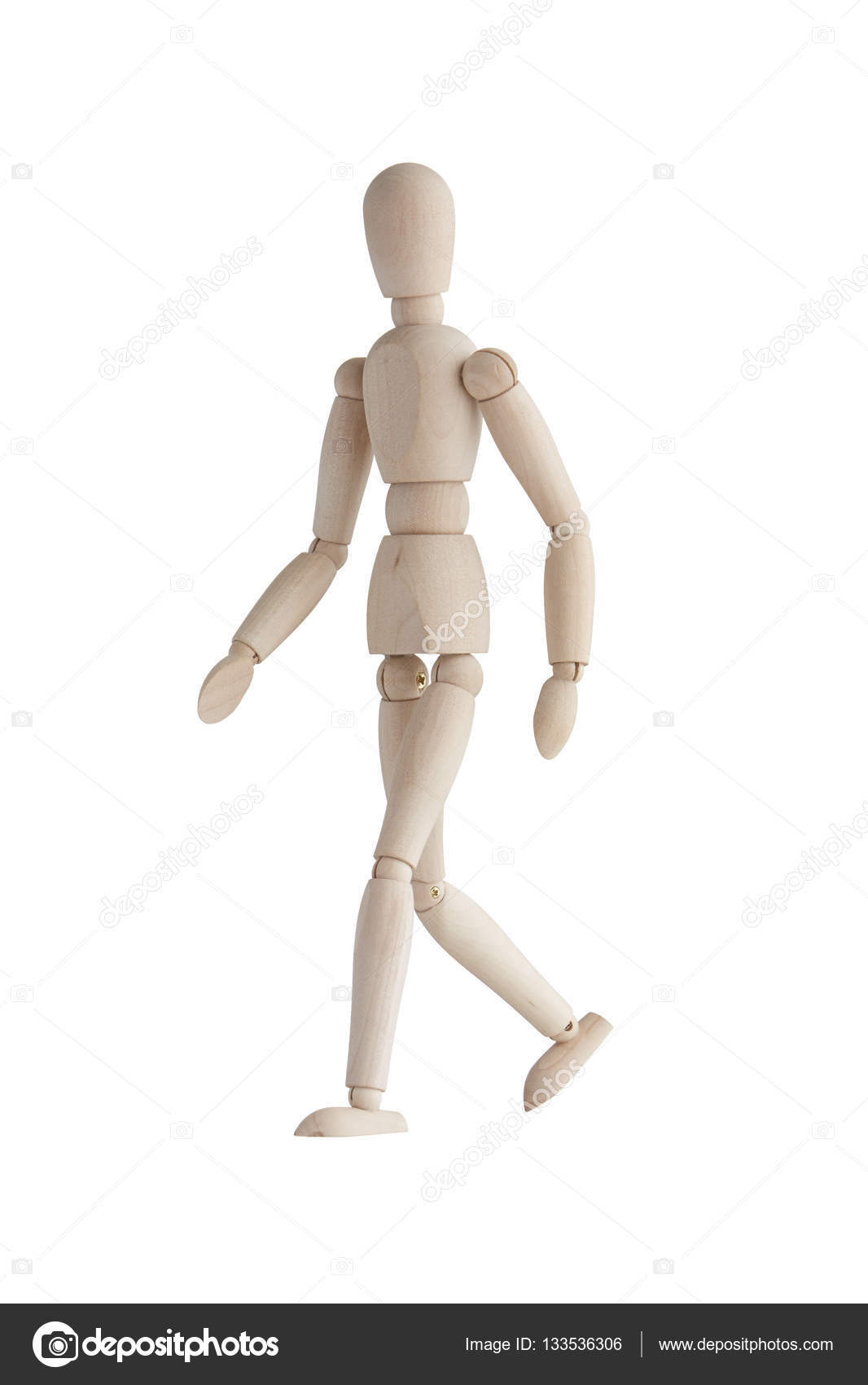 wooden mannequin with walking pose stock photo 123ultra 133536306