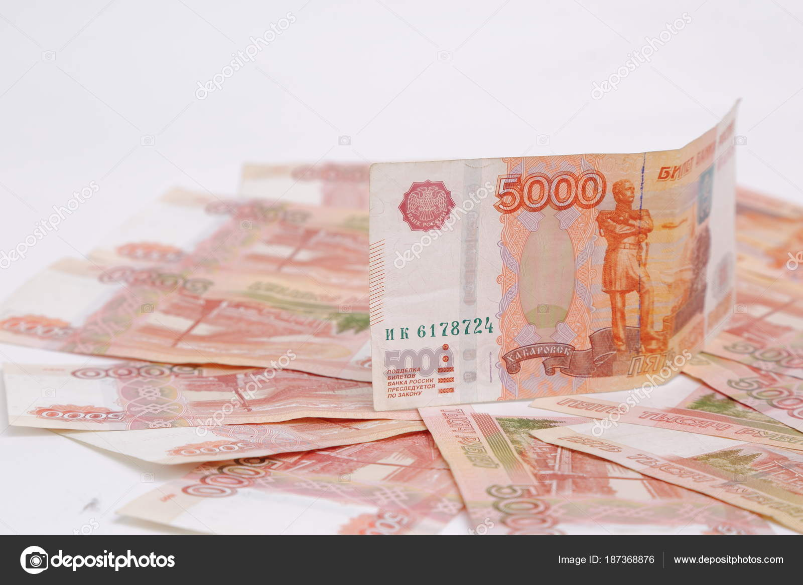 Studio Image 5000 Rubles Cash Money Russian Federation — Stock Photo