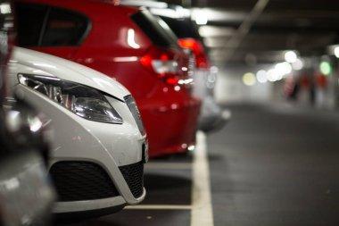 Cars in underground parking