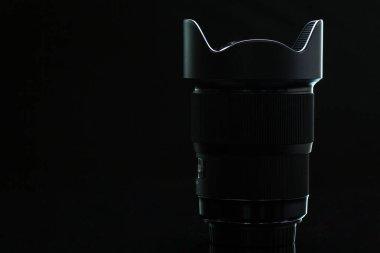 Professional modern DSLR camera llense