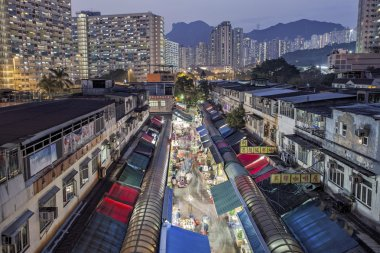 Local market in Hong Kong