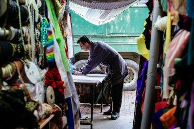 Fabric Bazaar in Hong Kong