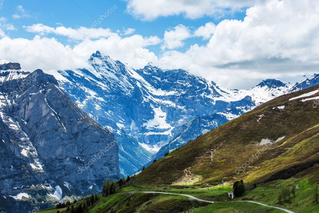 Kleine Scheidegg at Switzerland