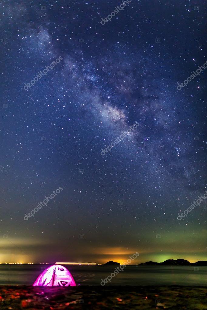 Milky Way near the sea in Hong Kong