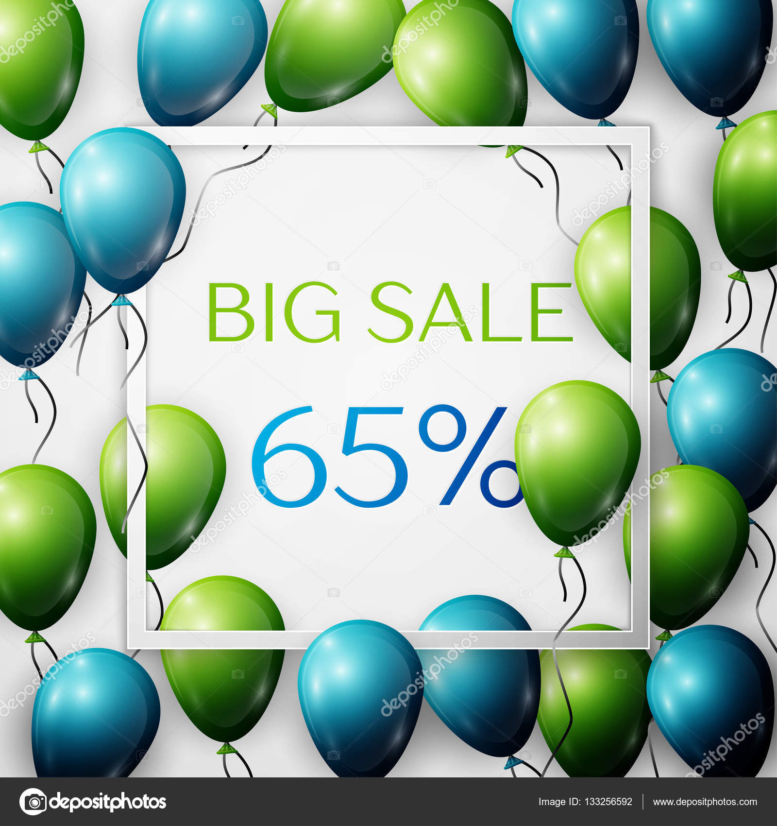 Green and blue balloons - Realistic Green And Blue Balloons With Black Ribbon In Centre Text Big Sale 65 Percent Discounts