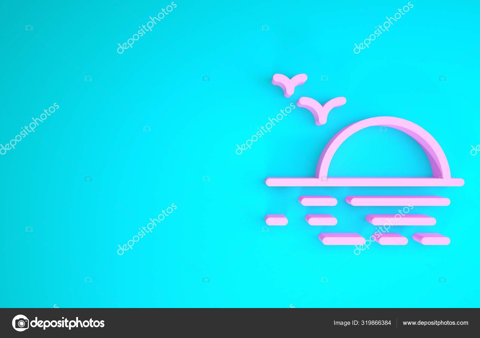 pink sunset icon isolated on blue background minimalism concept 3d illustration 3d render stock photo c vectorvalera gmail com 319866384 https depositphotos com 319866384 stock photo pink sunset icon isolated on html