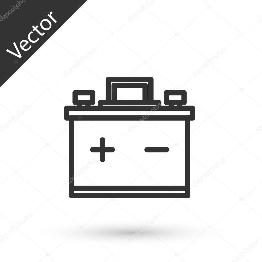 Grey Line Car Battery Icon Isolated On White Background Accumulator Battery Energy Power And Electricity Accumulator Battery Vector Illustration Premium Vector In Adobe Illustrator Ai Ai Format Encapsulated Postscript