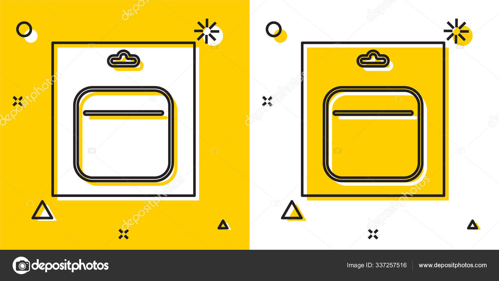 Black Battery Pack Icon Isolated Yellow White Background Lightning Bolt Stock Vector C Vectorvalera Gmail Com 337257516