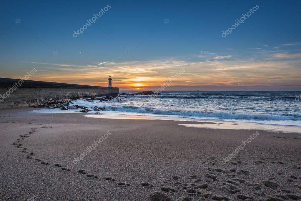 Sunset over Atlantic Ocean