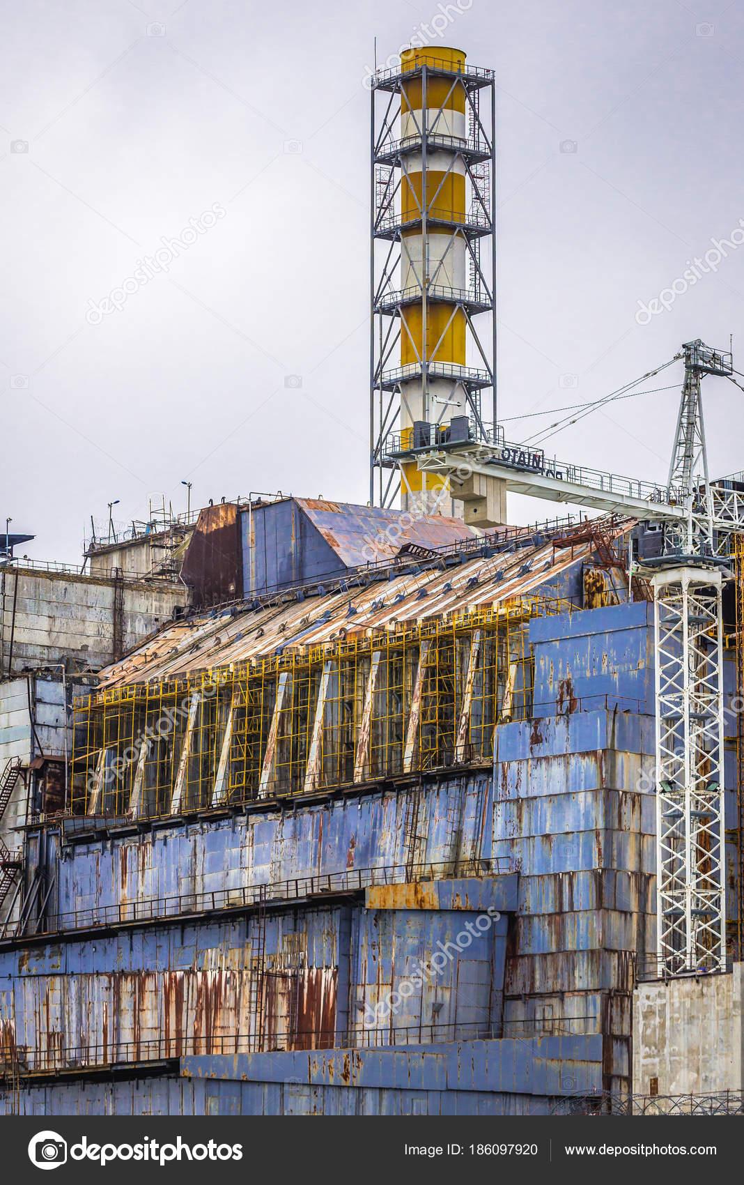 Sarcophagus of Chernobyl reactor no 4 – Stock Editorial