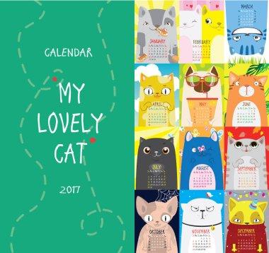Calendar 2017. My lovely cat