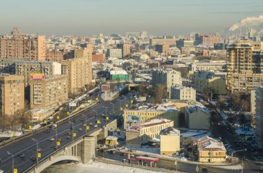 Moscow winter top view