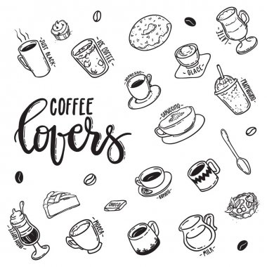 lettering Coffee Lovers